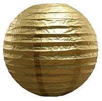LumaBase Luminarias 5-Piece Round Paper Lanterns (Yellow)