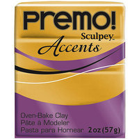 Polyform 465031 Premo Sculpey Polymer Clay 2 Ounces-White Translucent