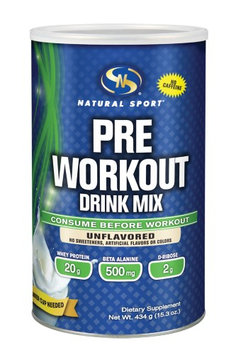 Pre Workout Drink Mix (Unflavored) Natural Sport 434 g Powder