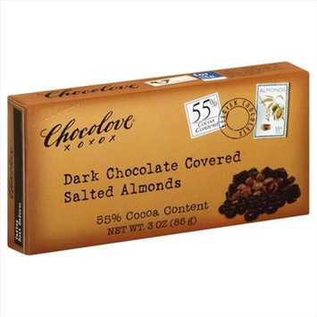 Chocolove ALMONDS, DK CHOC CVRD, SLTD, (Pack of 6)