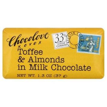 Chocolove Xoxo 20839 Milk Chocolate Toffee & Almond Mini Bar