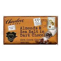 Chocolove Choc Bar Drk Almnds Ssalt -Pack of 12