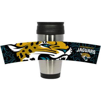Hunter Manufacturing Jacksonville Jaguars Travel Mug: 15 oz Stainless Steel Travel Tumbler Hunter Manufacturers
