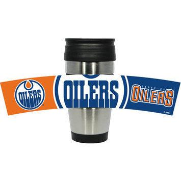 Hunter Manufacturing Edmonton Oilers Travel Mug: 15 oz Stainless Steel Travel Tumbler Hunter Manufacturers