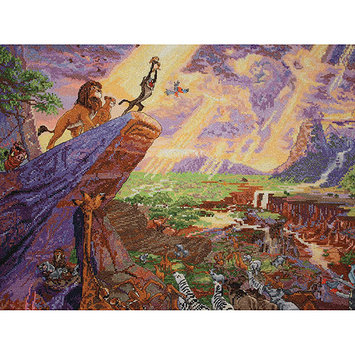 M C G Textiles Disney Dreams by Thomas Kinkade-The Lion King