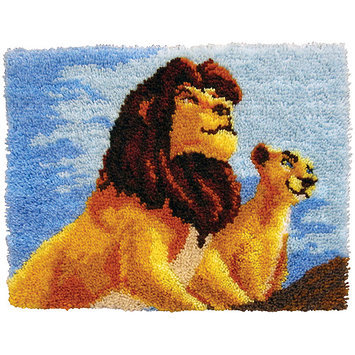 M C G Textiles Latch Hook Kit 27 X20 -The Lion King