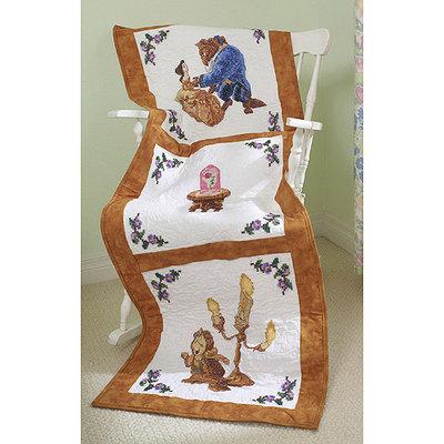 M.c.g. Textile, Inc. Disney Dreams Stamped Quilt Blocks 6/Pkg 3 Designs-Beauty & The Beast Falling In Love