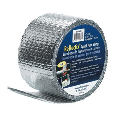 Reflectix SPW0602508 6-in X 25 Spiral Pipe Wrap