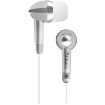 Eforcity Coby Cve53Svr Noise-Isolation Stereo Earphones, Silver