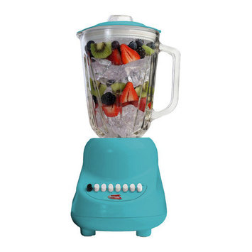 Elite By Maxi-matic Americana by 10 Speed Blender with 48 oz. Glass Jar Color: Blue