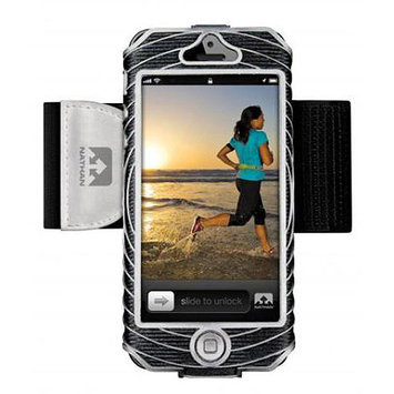 Nathan SonicBoom Armband Music Carrier for iPhone 5 - Black/Silver