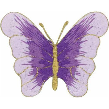 Tees & Novelties 306623 Patches For Everyone Iron-On Appliques-Purple Butterfly