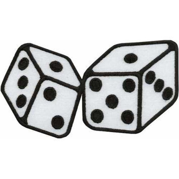 Tees & Novelties 264636 Patches For Everyone Iron-On Appliques-Dice 1-Pkg