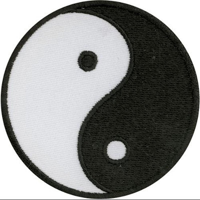 Tees & Novelties 235604 Patches For Everyone Iron-On Appliques-Yin Yang 1-Pkg