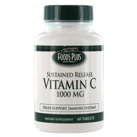 Vitamin C 1000 Mg Sustained Released Tablets By Food Plus - 60 Ea