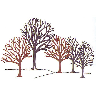 Rubber Stampede Mounted Rubber Stamp, Winter Woods
