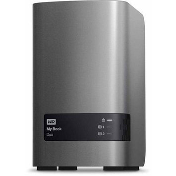 Wd - My Book Duo 4TB External USB 3.0/2.0 Hard Drive - Metallic Silver/charcoal Gray