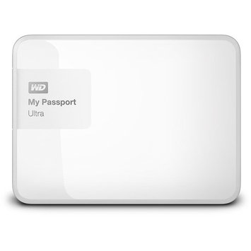 Wd - My Passport Ultra 1TB External USB 3.0/2.0 Portable Hard Drive - Brilliant White