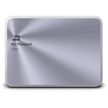 Wd - My Passport Ultra Metal Edition 2TB External USB 3.0/2.0 Portable Hard Drive - Silver