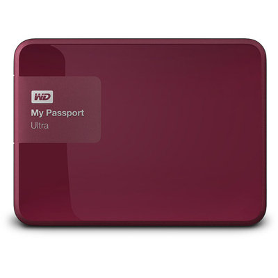 Wd - My Passport Ultra 500GB External USB 3.0/2.0 Portable Hard Drive - Wild Berry