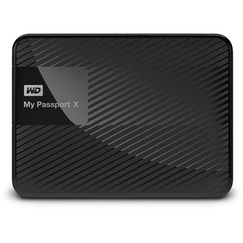 Wd - My Passport X 2TB External USB 3.0/2.0 Portable Hard Drive - Black