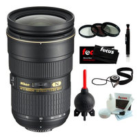 Nikon 24-70/2.8G ED AF-S Nikkor Wide Angle Zoom Lens + Accessory Kit With 3 Year Extended Warranty
