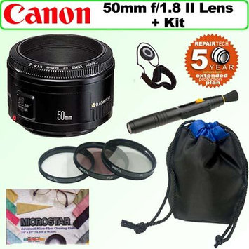 Canon EF 50mm f/1.8 II Camera Lens with Accessory Kit