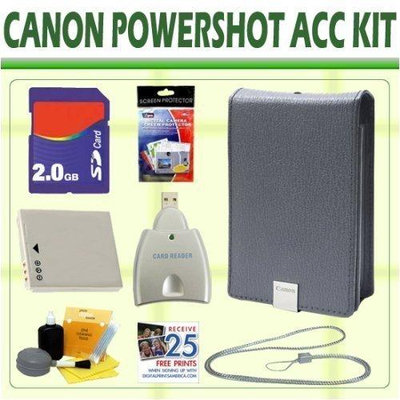 Canon 2GB Accessory Kit For Powershot SD1000