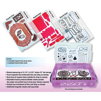 Zutter Magnet Sheets 3/Pkg-3 Magnetic Sheets + 3 Dividers
