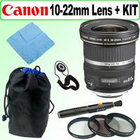 Canon EF-S 10-22mm F/3.5-4.5 USM SLR Lens + 5 Year Warranty Accessory Outfit - Canon ACAN1022EFSK1