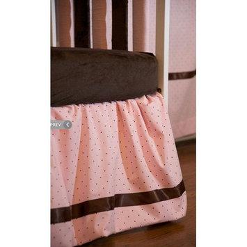 Go Mama Go Designs Pink with Chocolate Polka Dot Dust Ruffle and Chocolate Satin Trim