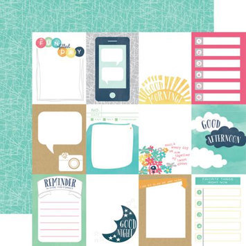 Echo Park Paper Creative Agenda Double-Sided Cardstock 12X12-3X4 Journaling Cards