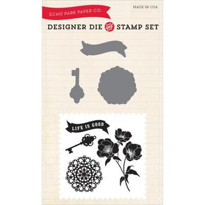 Echo Park Paper Echo Park Die & Stamp Combo Set-Life Is Good