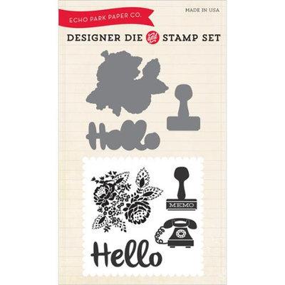 Echo Park Paper Echo Park Die & Stamp Combo Set-Hello Again