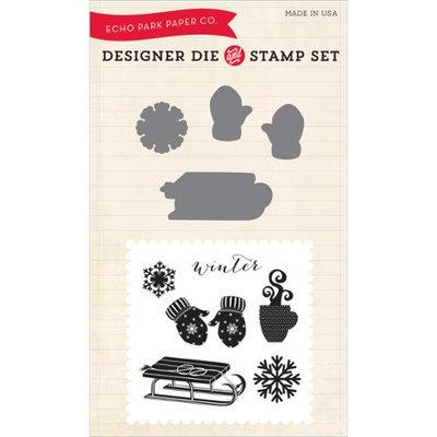 Echo Park Paper Echo Park Die & Stamp Combo Set-Let It Snow
