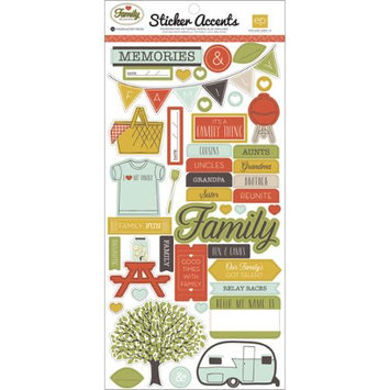 Echo Park Paper SW4801 Family Reunion Stickers 6X12-Accents