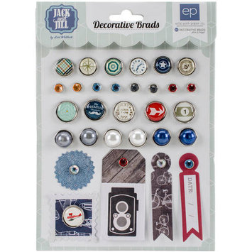 Echo Park Jack & Jill Decorative Brad Scrapbook Embellishments