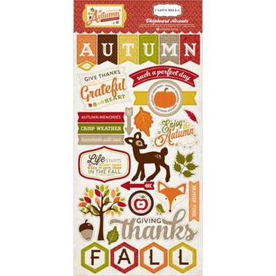Echo Park Paper A Perfect Autumn Chipboard 6X12in