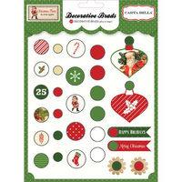 Echo Park Paper Christmas Time Decorative Brads