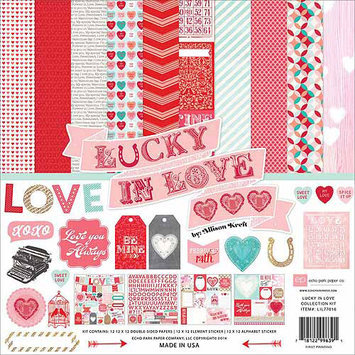 Echo Park Paper Echo Park Collection Kit 12x12 Lucky In Love Paper Pack