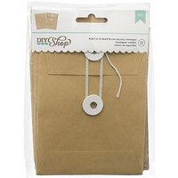American Crafts DIY-C-66661 DIY Shop Cards with Envelopes 12-Pkg-Kraft Security 4.25 in. X5.75 in.