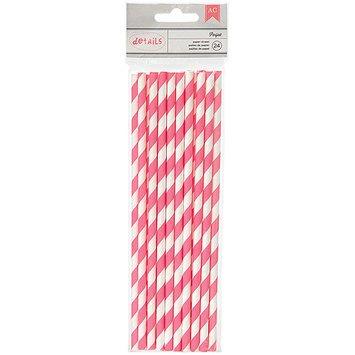 American Crafts Details Lined Paper Straws 24/Pkg-Parfait