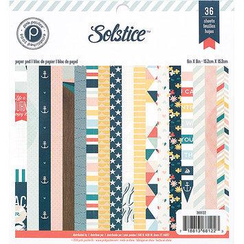 American Crafts 368122 Pink Paislee Paper Pad 6X6 36/Pkg-Solstice