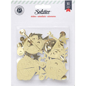 American Crafts Solstice Foam Stickers 61/Pkg-Gold Shapes