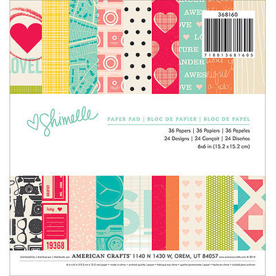 American Crafts Paper Pad 6X6 36/Pkg-Shimelle