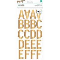 American Crafts DIY2 Gold Alphabet Scrapbook Stickers