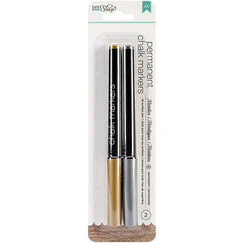 American Crafts DIY2 Gold / Silver Broad Point Chalk Markers