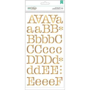 American Crafts DIY2 Gold Typewriter Alphabet Scrapbook Stickers