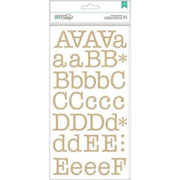 American Crafts DIY2 Kraft Typewriter Alphabet Scrapbook Stickers
