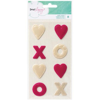 American Crafts Dear Lizzy Serendipity Fabric Shapes Scrapbook Embellishments